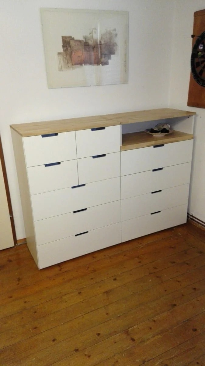 White Dresser And Chest Drawers