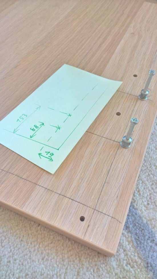 Hidden Coffee Table Hack_drawer_front_holes