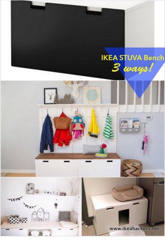 Ikea hack stuva  IKEA STUVA bench: 1 item, 3 ways! - IKEA Hackers