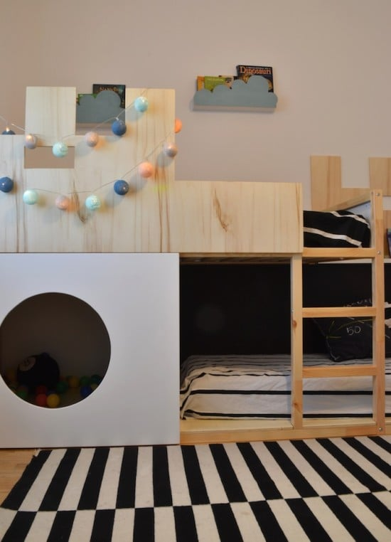 IKEA KURA castle bunk bed with ballpit