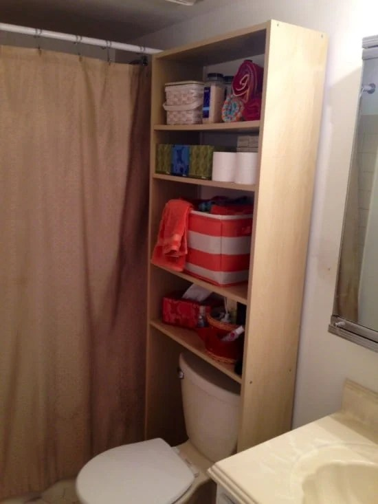 Over the toilet storage unit