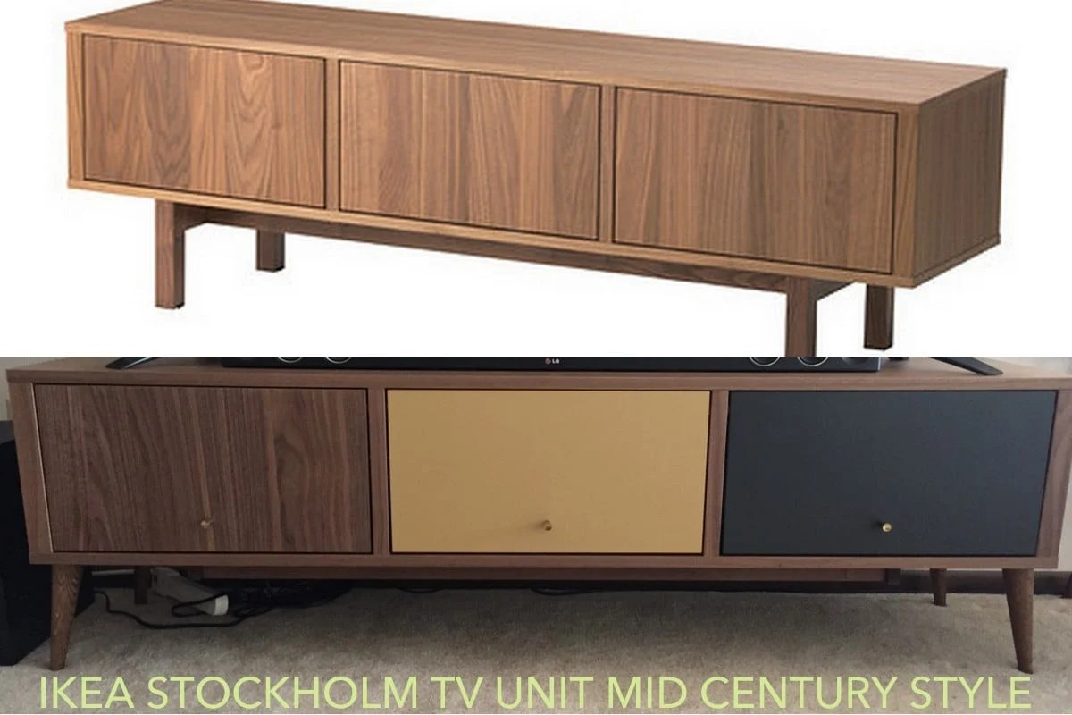 ikea stockholm mid century tv stand redo ikea hackers. Black Bedroom Furniture Sets. Home Design Ideas