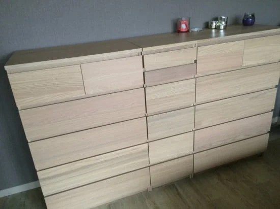 A laundry basket hidden in MALM chest of drawers | IKEA Hackers