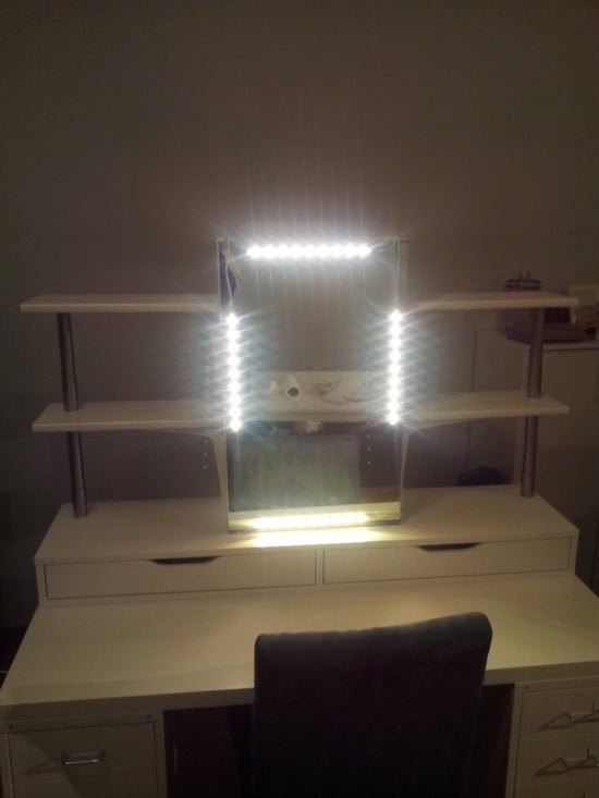 an affordable ikea dressing table makeup vanity ikea hackers. Black Bedroom Furniture Sets. Home Design Ideas
