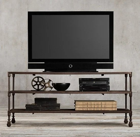 Restoration Hardware's Dutch Industrial Media Console at $1295