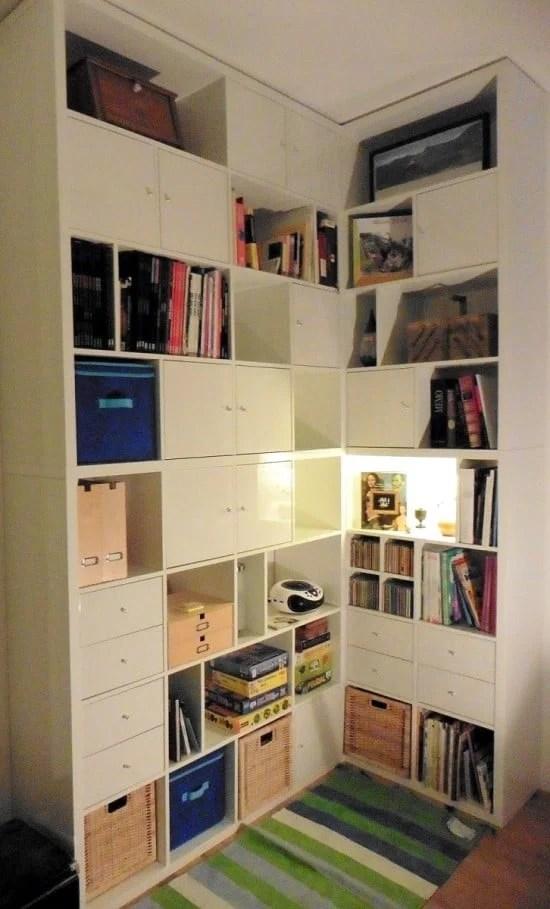 Made to measure KALLAX corner bookcase