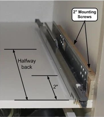 Install IKEA drawers in face frame kitchen cabinets