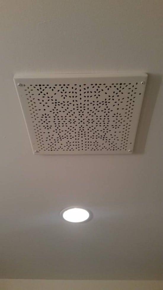 IKEA Variera shelf insert as ventilation cover