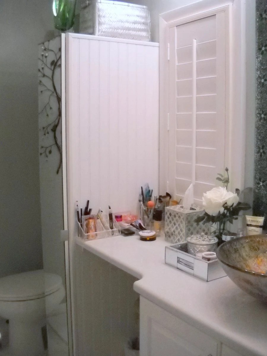 Fancy Narrow bathroom cabinet with tons of storage