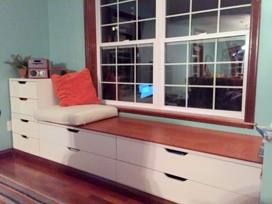 Stolmen bench built-in