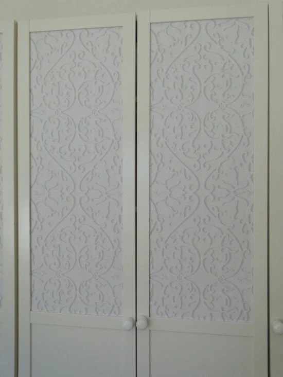 Affix wallpaper to BILLY OXBERG glass doors