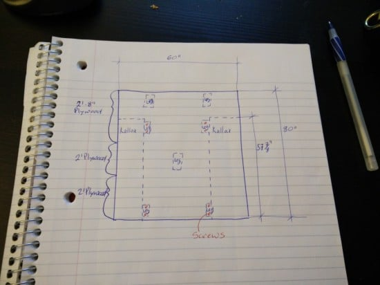 Planning the storage bed