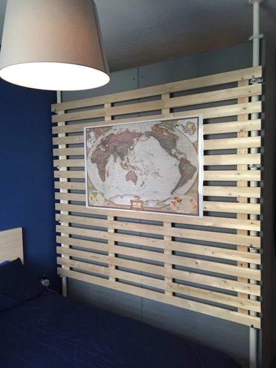 multi purpose wooden partition from stolmen and lade ikea hackers. Black Bedroom Furniture Sets. Home Design Ideas