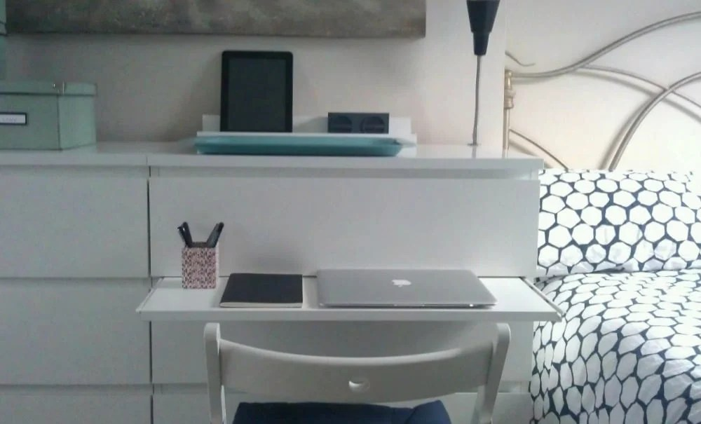 Malm Chest Gets A Pull Out Laptop Table