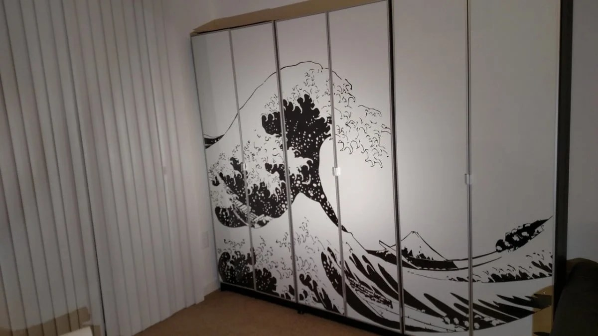 New BILLY bookcase with large wall art