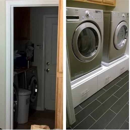 Ordinaire Here Is The Before And After Shot Of The Laundry Room.