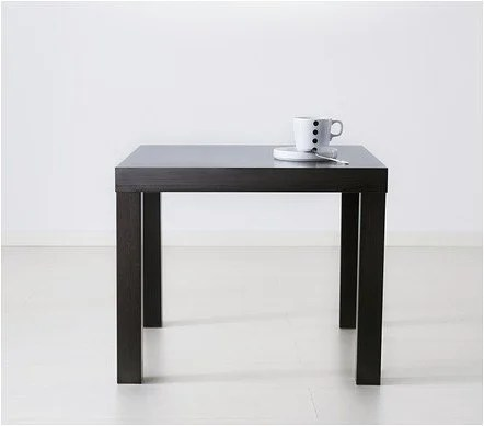 Superb lack side table brown PE S