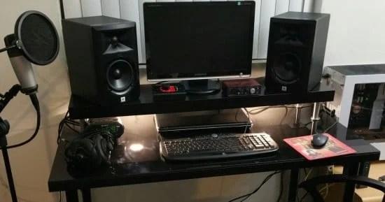 Music Studio Desk Step Up