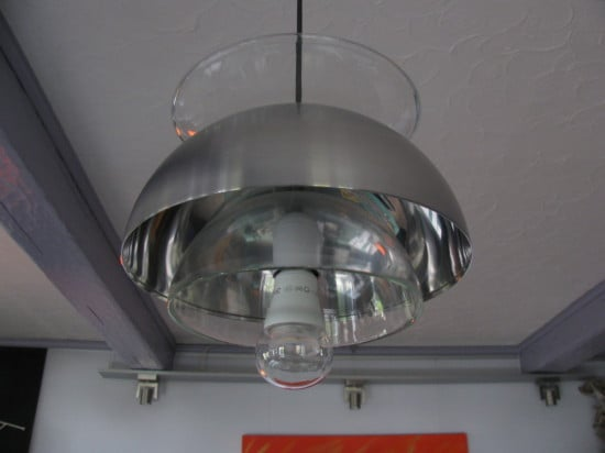 IKEA glass bowls as ceiling lighting