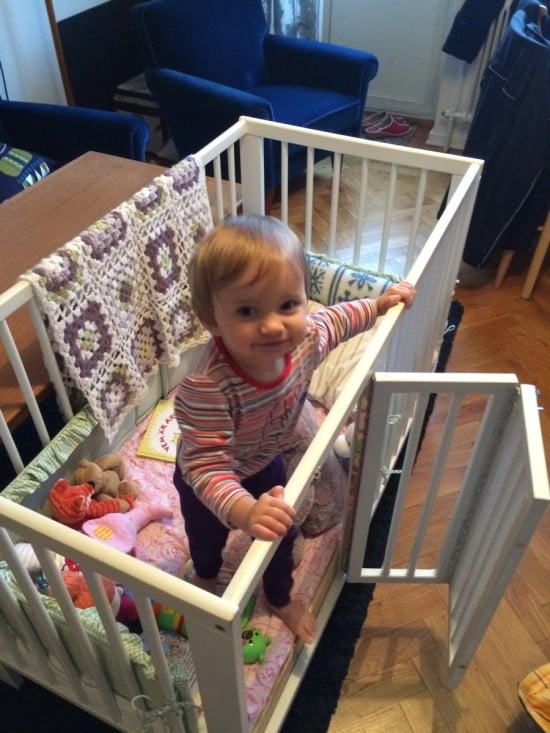 Ikea Gulliver Crib With Baby S Door Ikea Hackers