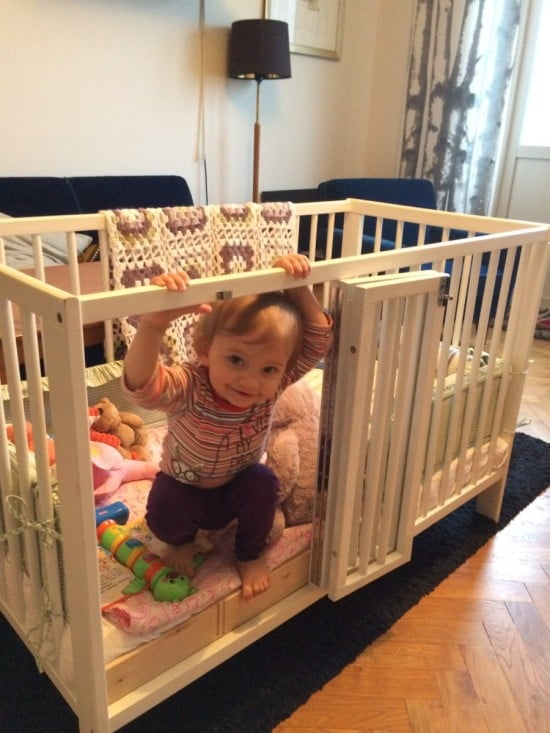 Ikea Gulliver Crib With Baby S Door Ikea Hackers
