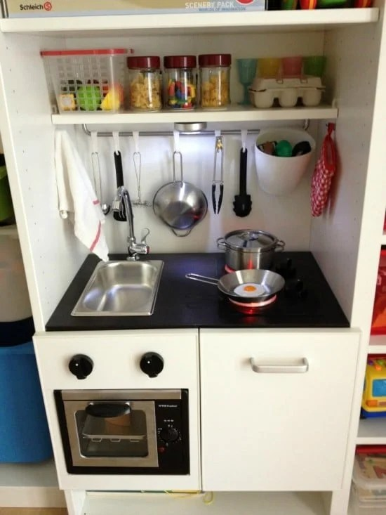 Built In Besta Playkitchen With Led Stove Light Amp Turnable