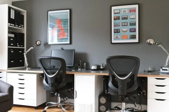 12 IKEA Hacks to Try in 2018 - dual workstation