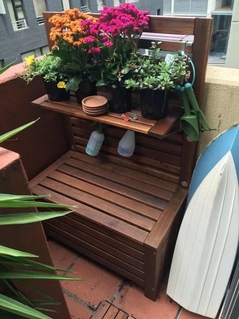 freestanding potting bench
