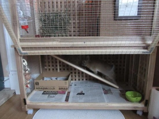 2-level rabbit cage made from the IKEA HOL