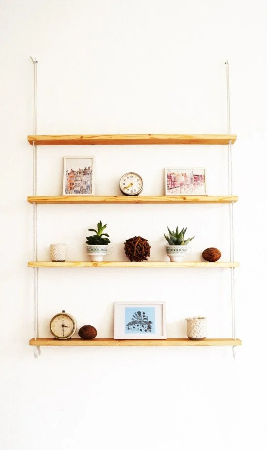 12 IKEA Hacks to Try in 2018 - rope shelving