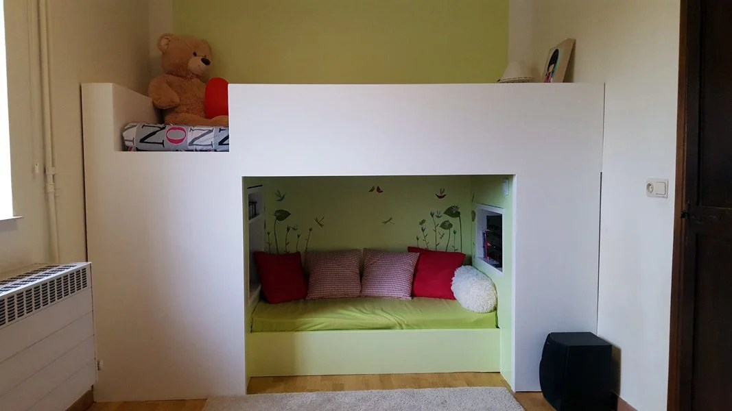 loft bed with reading nook