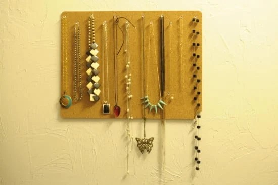 IKEA Placemat to Jewelry Organizer
