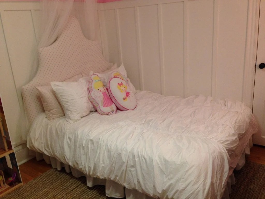 Amazing And voil our princess bed was plete All in all the project was easy and could be done in a day