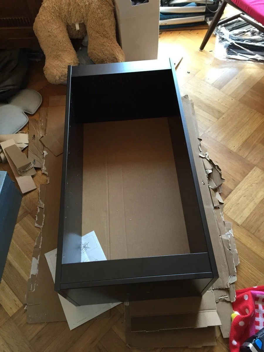 Turn The Trofast Frame Into A Rolling Drawer Ikea Hackers