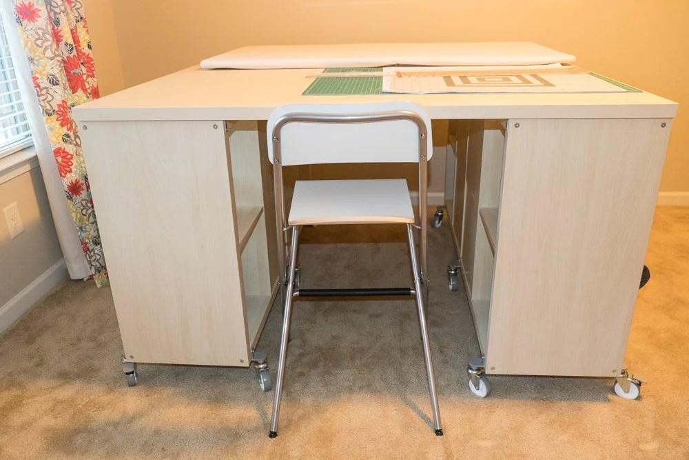 ikea kallax crafting table ikea hackers. Black Bedroom Furniture Sets. Home Design Ideas