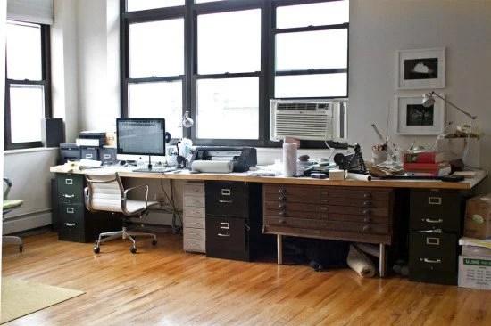 Kelli's workstation before