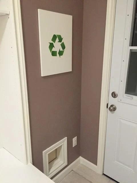 Recycling door