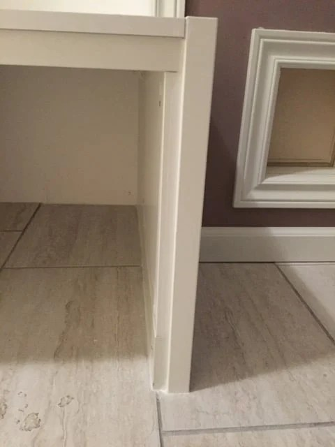 mudroom bench support