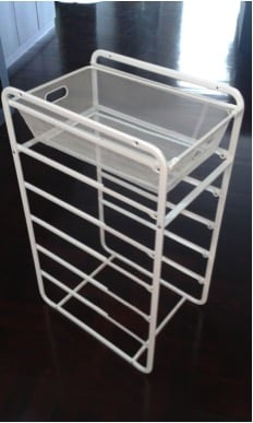 Place bars below the basket to sturdy the frame