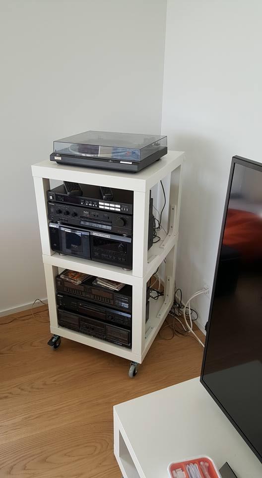 lack hifi rack ikea hackers. Black Bedroom Furniture Sets. Home Design Ideas