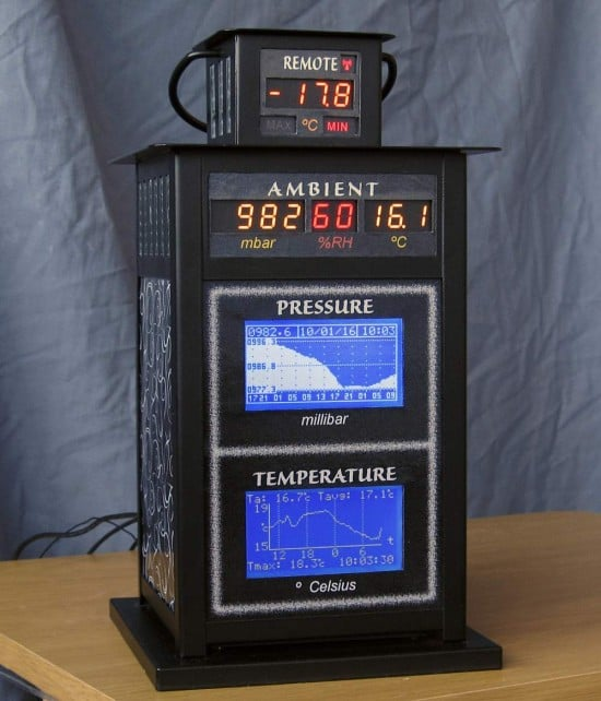 Simple Weather Station Housed In An IKEA BORRBY lantern - front-full, finished
