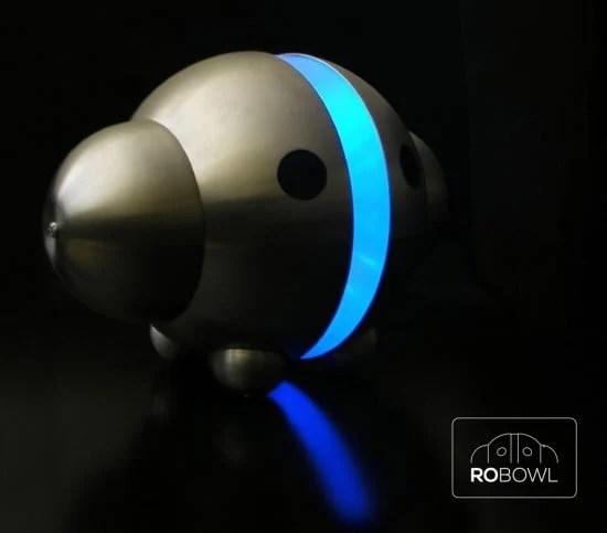 ROBOWL - A Robot light from IKEA Blanda Blank