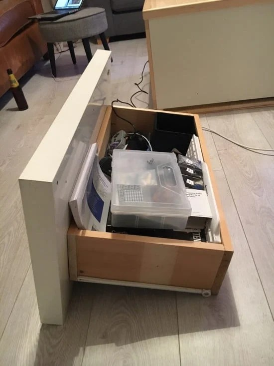 Expedit TV box drawer