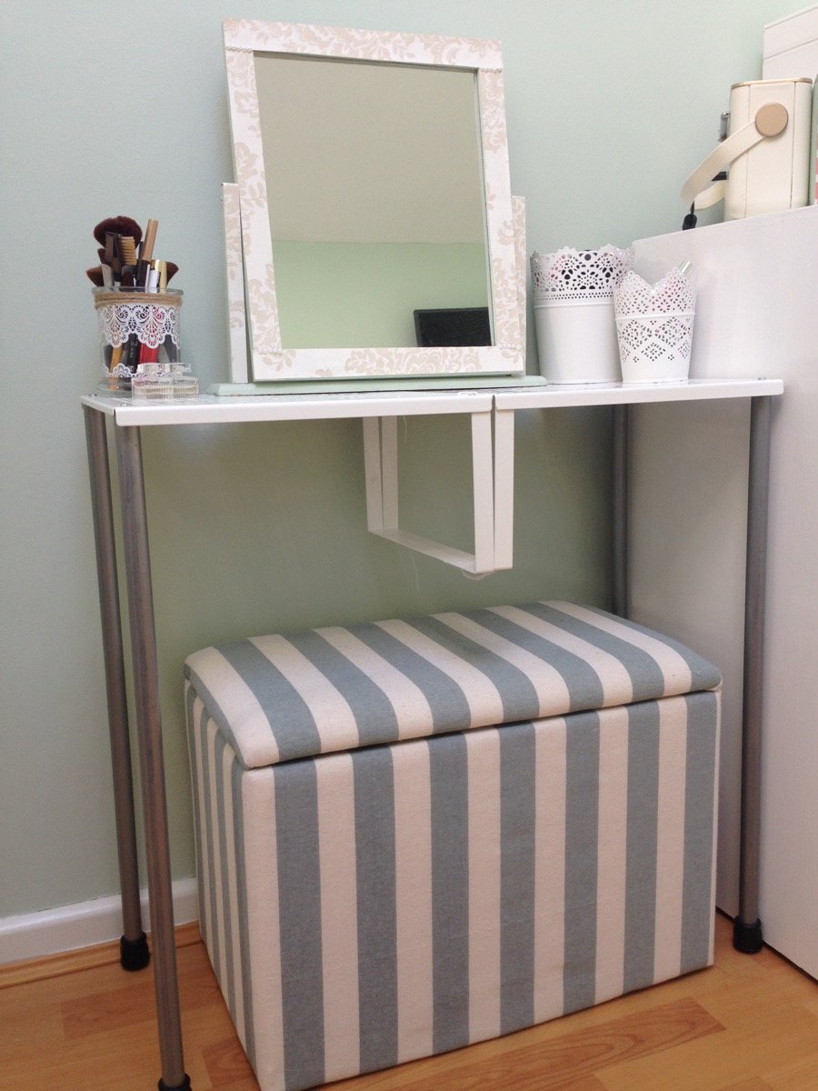 turn variera shelf inserts into a gorgeous dressing table ikea hackers