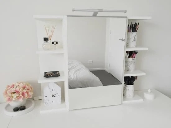 Use Ikea Lill 197 Ngen Mirror Cabinet As A Vanity Mirror With