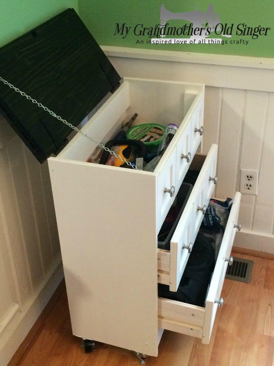 stylish tool storage from an ikea rast dresser ikea hackers. Black Bedroom Furniture Sets. Home Design Ideas