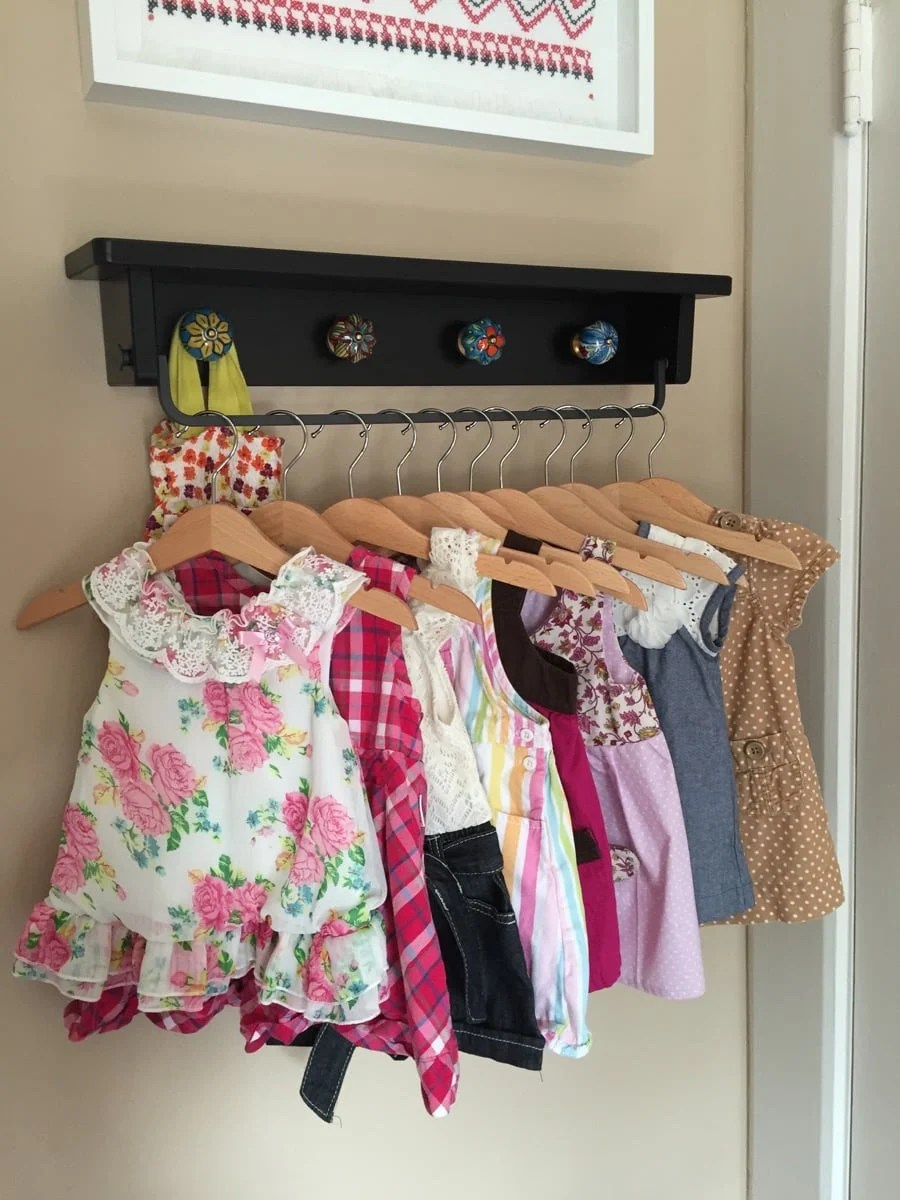 Playful Space Saving Baby Clothing Rack Wall Hung Ikea