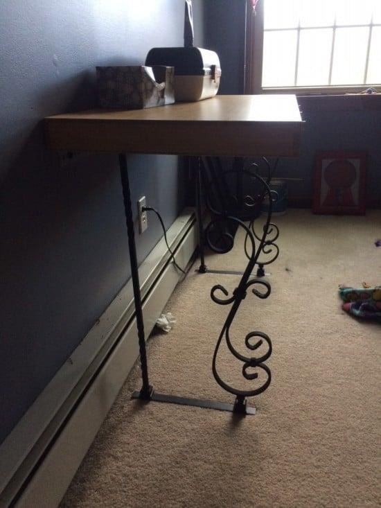 LILLÅSEN Bamboo desk with new legs