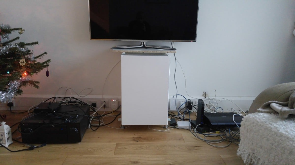 IKEA METOD cabinets into AV unit - IKEA Hackers