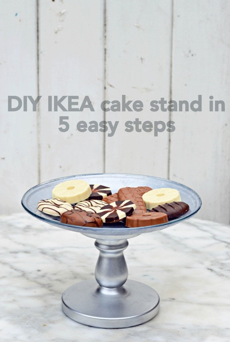 Make Your Own Decoupaged Ikea Cake Stand Ikea Hackers